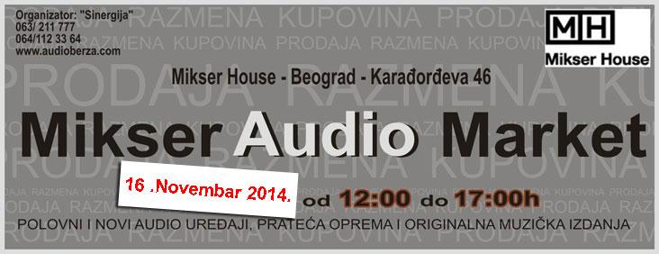 flajer za mikser audio market